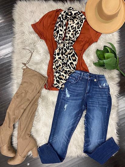 Monica Leopard scarf