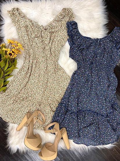Cool Mom  ruffle mini Dress