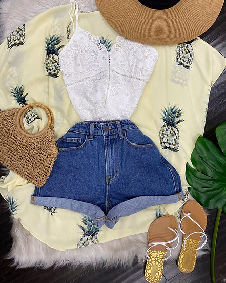 Thinking about Pineapples 🍍 kimono