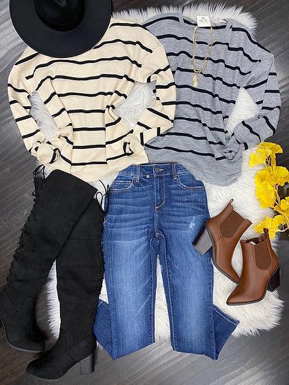 Daisy striped sweater