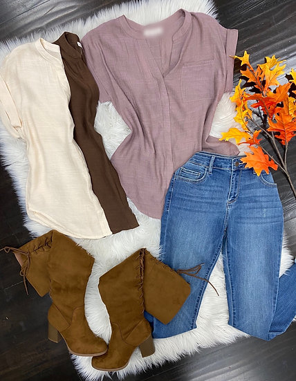 Fall button blouse