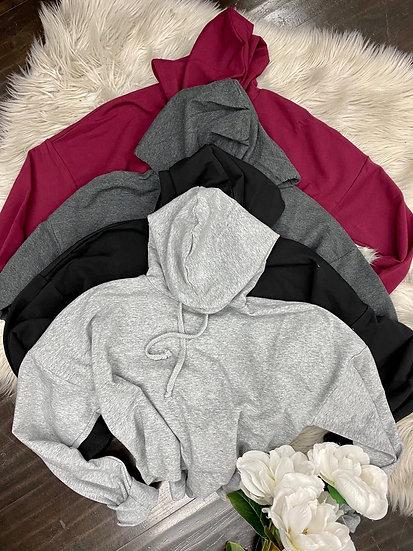 Daisy crop hoodie