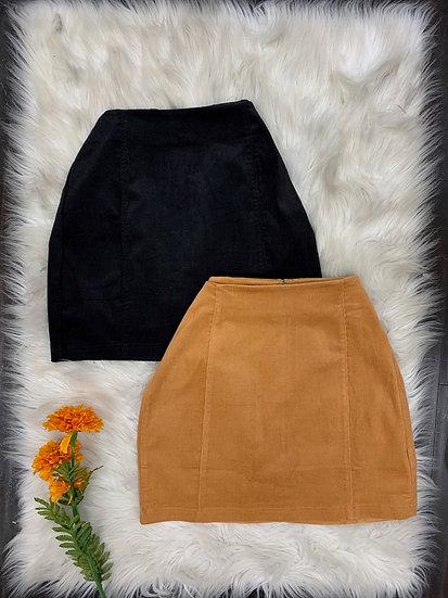 Monica Corduroy Mini Skirt