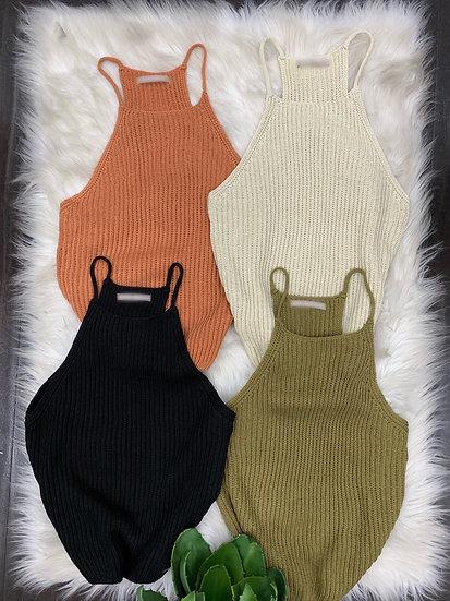 Veronica Halter Sweater Top