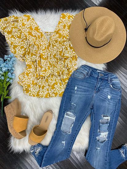 Victoria ruffle blouse