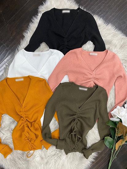 Jen scrunched sweater