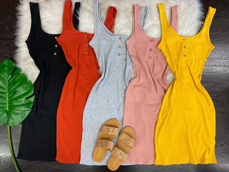 Kenya ribbed mini Dress