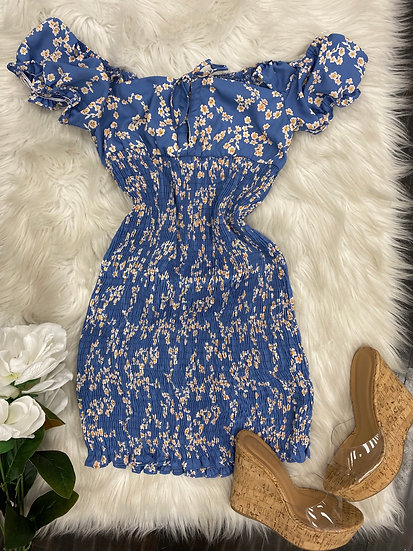 Lorena Off shoulder mini Dress