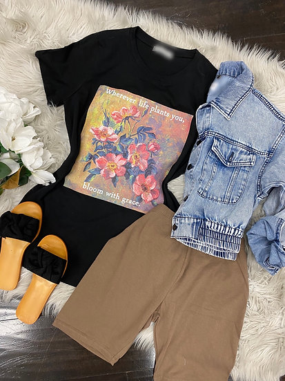 Bloom with grace tee