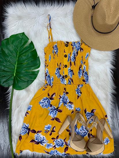 Darla Dress ( mustard