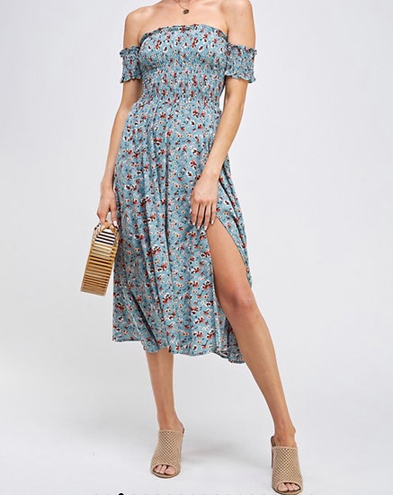 Stephanie off shoulder  floral Dress