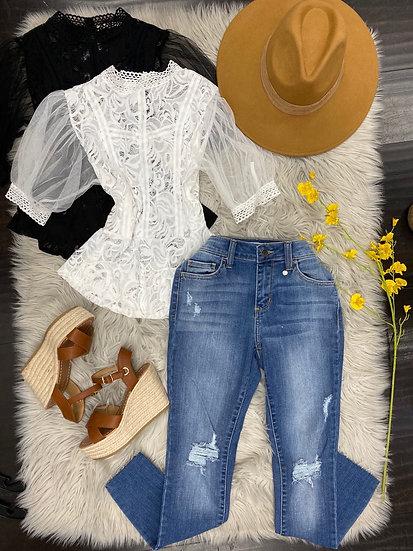 Pamela lace  blouse