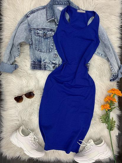 Daisy midi Dress ( Dodger Blue)