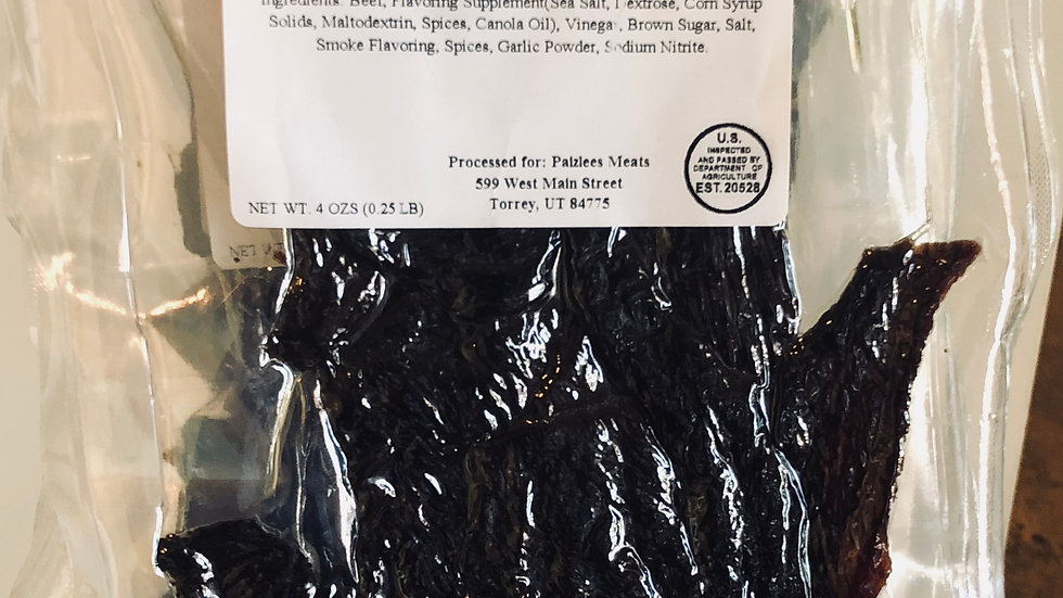 Grass Fed Chopped and Formed Beef Jerky
