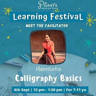 Calligraphy english and hindi