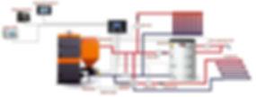 Схема монтажа пелетного котла
