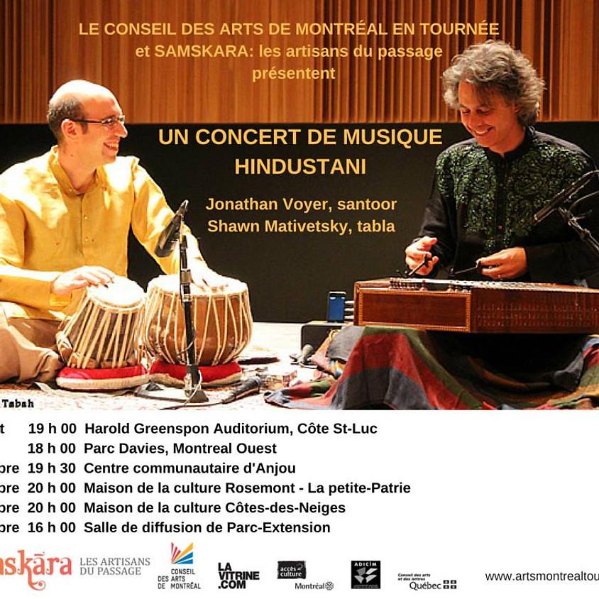 Concert de musique hindustani