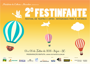Banner com identidade visual do 2º Festinfante