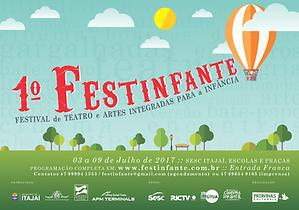 Banner com identidade visual do 1º Festinfante