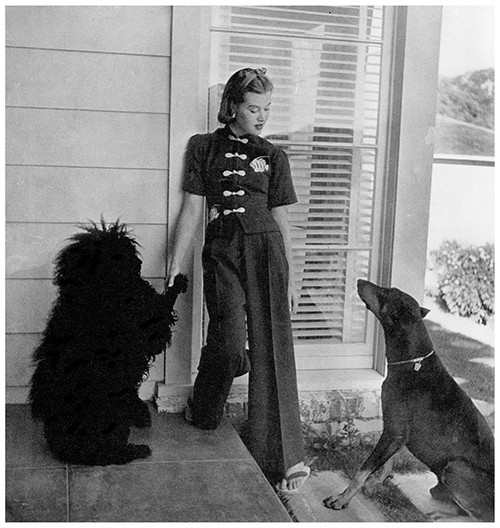Mary Zimbalist : Photographs : Mary with dogs