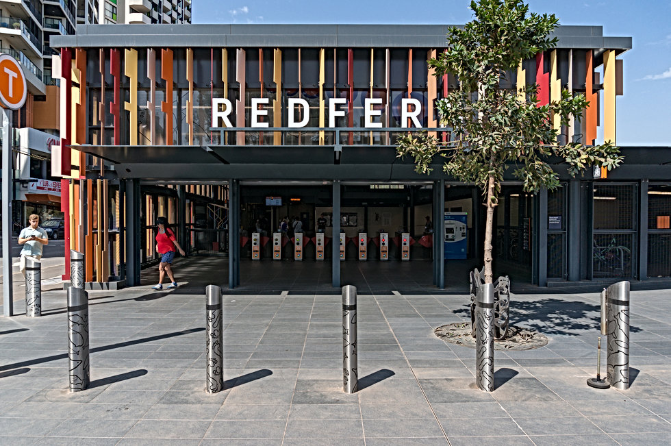 Redfern-train-station-facade-with-Opal-t
