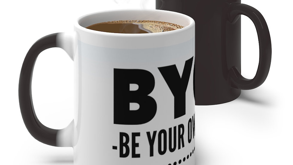 BYOBF Be Your Own Best Friend Color Changing Mug