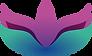 Logotipo Psicóloga Fernanda Lima Rodrigues: flor de lótus estilizada