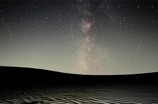「ペルセウス流星群」星取県フォトコンテスト受賞作品(優秀賞)