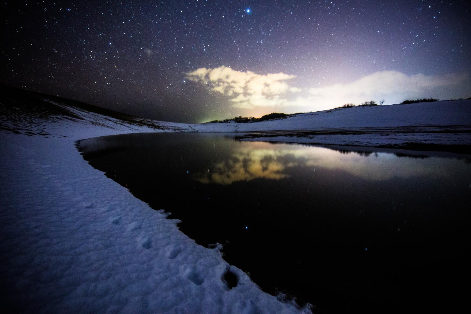 「砂丘雪景色」星取県フォトコンテスト優秀作品