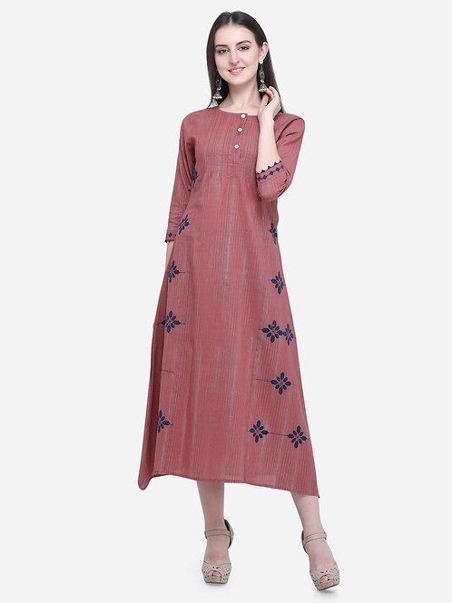 Dusty rose pintucks dress
