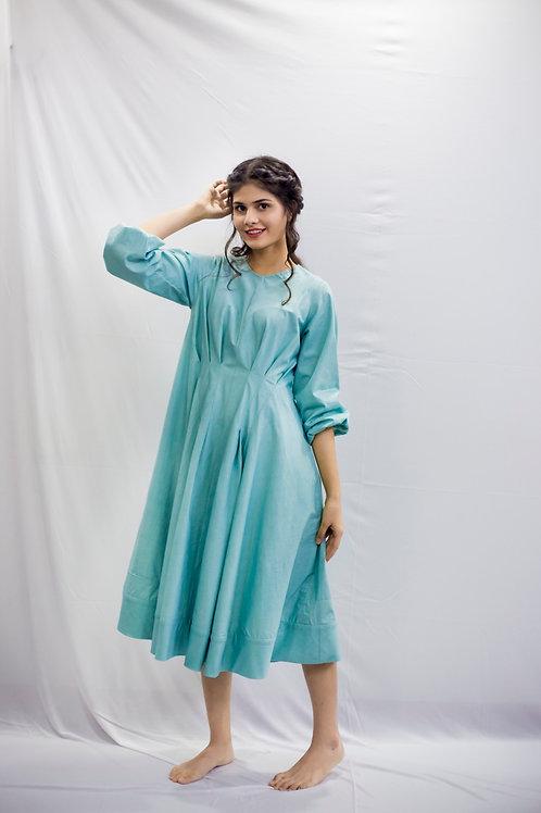 Blue Cloud Sheen Dress