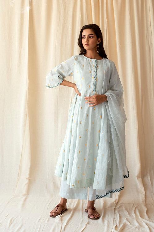 Blushed mint kurta set