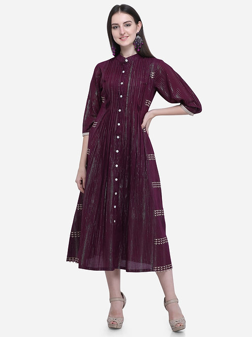 Broad tucks dress