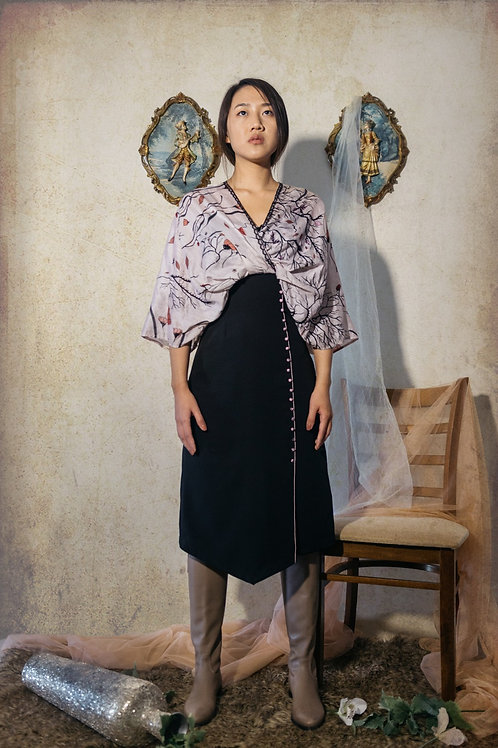 Kimono drape dress