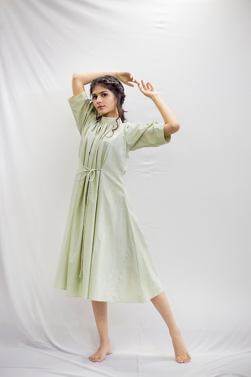 Green Dew Sheen Dress