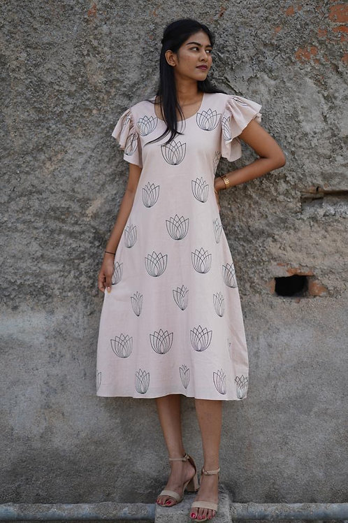 hand block printed dress