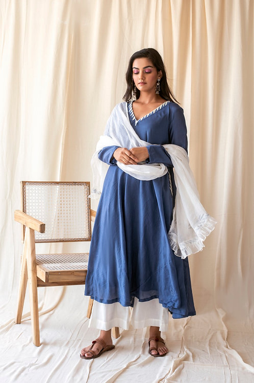 Ocean blue kurta set
