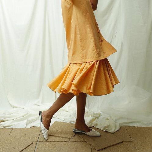 Self Textured Flared Skirt