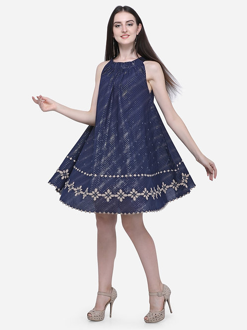 360 degree navy dress