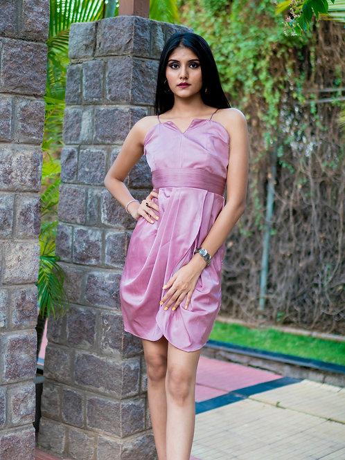 Mauve draped dress