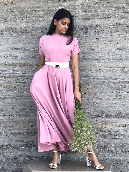 Pink Bias cut dress