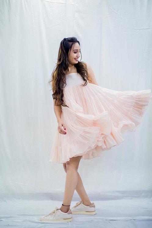 Mimi pink ruffles dress