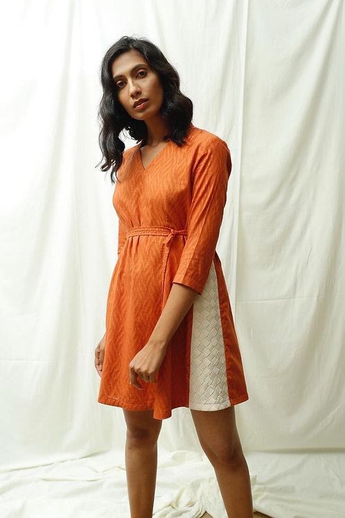 Side Panelled Weaved Dress