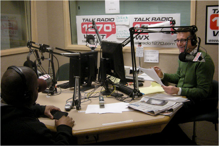 Larry with Detroit TV & Radio Host Charlie Langton at News Talk 1270 AM - PIC 2