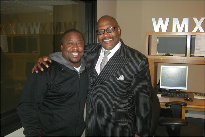 Larry Callahan & Pastor Marvin Winans at Clear Channel station WMXD FM