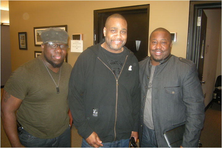 Larry Callahan & Stephen Anderson on WMXD w PD KJ Holiday at Marvin Winans Show 9-18-11