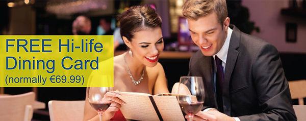 Free Hi-life dining card
