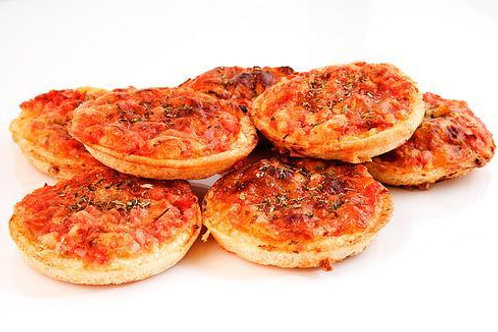 100 Mini pizza