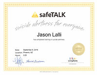 Suicide safeTALK certification