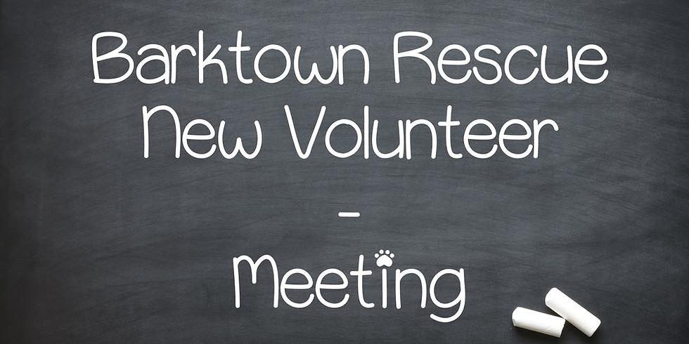 New Volunteer Meeting March